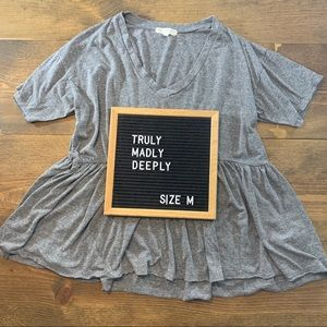 Truly Madly Deeply V Neck Babydoll Tee